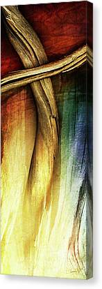 In Light Of The Cross Canvas Print by Shevon Johnson