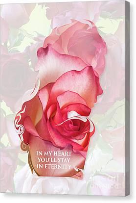Yes Love In My Heart 3 Canvas Print by Johannes Murat