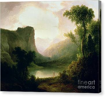 In Nature's Wonderland Canvas Print by Thomas Doughty