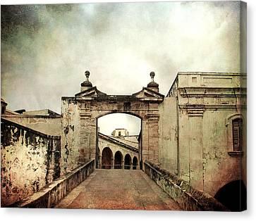 In Old San Juan Canvas Print by Julie Palencia