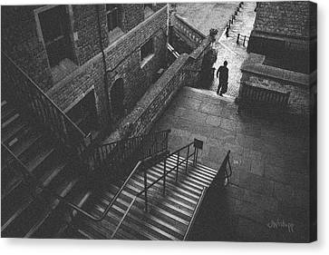 In Pursuit Of The Devil On The Stairs Canvas Print by Joseph Westrupp