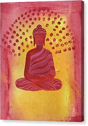 In Search Of Life - Lord Buddha Canvas Print by Nayna Tuli Fineart