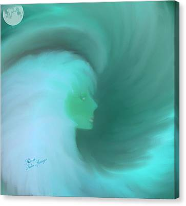 In The Arms Of An Angel Canvas Print by Sherri  Of Palm Springs