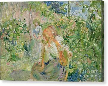 In The Garden At Roche Plate Canvas Print by Berthe Morisot