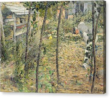 In The Garden Canvas Print by Charles Angrand