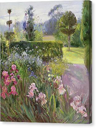 In The Garden   June Canvas Print by Timothy Easton