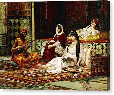 In The Harem Canvas Print by Filippo Baratti