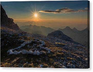 In The Heart Of The Mountains Canvas Print by Blaz Gvajc