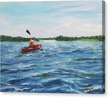 In The Kayak Canvas Print by Jack Skinner