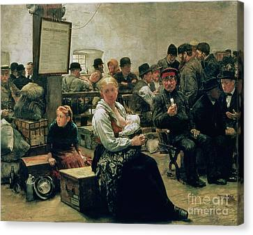 In The Land Of Promise Canvas Print by Charles Frederic Ulrich