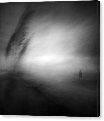 In The Middle Of Nowhere Canvas Print by Santiago Pascual Buye