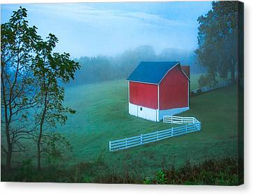 In The Midst Of The Mist Canvas Print by Todd Klassy