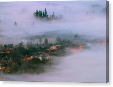 In The Morning Fog Canvas Print by Piotr Krol (bax)