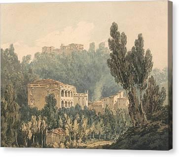 In The Valley Near Vietri Canvas Print by Joseph Mallord William Turner
