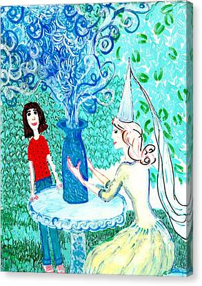 In The White Lady's Cave Canvas Print by Sushila Burgess
