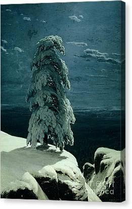 In The Wild North Canvas Print by Ivan Ivanovich Shishkin