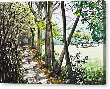 In The Woods Canvas Print by Svetlana Sewell