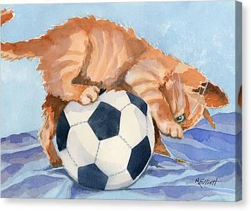 In Training Canvas Print by Marsha Elliott