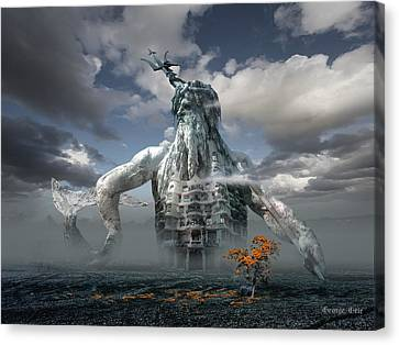 Inadvertent Metamorphosis Or King Of My Castle Canvas Print by George Grie