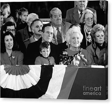Inauguration Of George Bush Sr Canvas Print by H. Armstrong Roberts/ClassicStock
