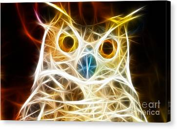Incredible Owl Portrait Canvas Print by Pamela Johnson