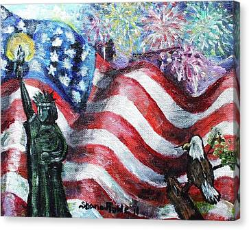 Independence Day Canvas Print by Shana Rowe Jackson