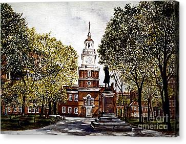 Independence Hall Canvas Print by Joyce A Guariglia