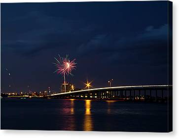 Independence On The River Canvas Print by Nicholas Evans
