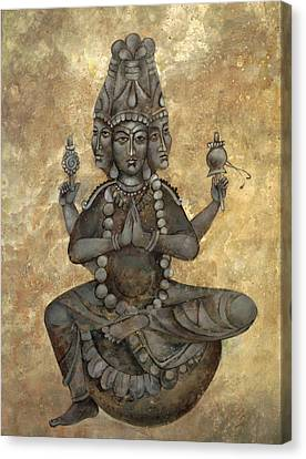 India Buddha Canvas Print by Mary jane Miller