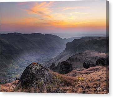 Indian Canyon Steens Canvas Print by Leland D Howard