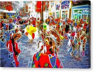 Indian Ceremonial Dance - 2002 Winter Olympics Canvas Print by Steve Ohlsen