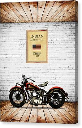 Indian Chief 1937 Canvas Print by Mark Rogan