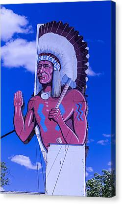 Indian Chief Route 66 Sign Canvas Print by Garry Gay