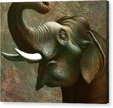 Indian Elephant 3 Canvas Print by Jerry LoFaro