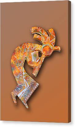 Indian Icon Kokopelli Canvas Print by Linda Phelps