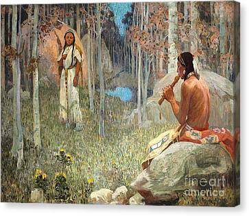 Indian Love Call Canvas Print by Roberto Prusso
