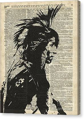 Indian Native American Canvas Print by Jacob Kuch