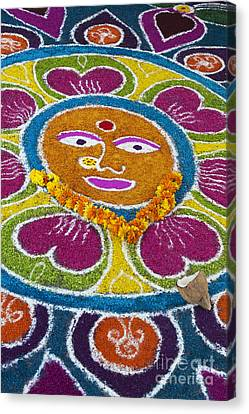Indian Rangoli Face  Canvas Print by Tim Gainey