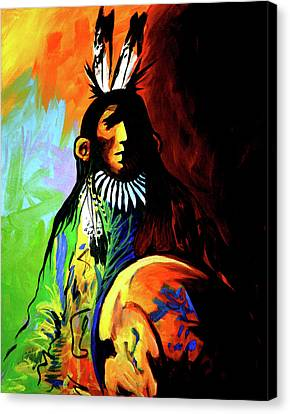 Indian Shadows Canvas Print by Lance Headlee