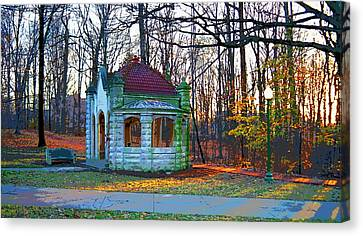 Indiana University Bloomington Old Campus Wellhouse Canvas Print by Paul Price