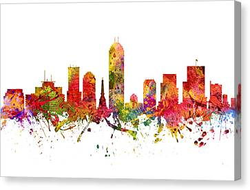 Indianapolis Cityscape 08 Canvas Print by Aged Pixel