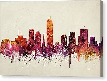 Indianapolis Cityscape 09 Canvas Print by Aged Pixel