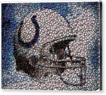 Indianapolis Colts Bottle Cap Mosaic Canvas Print by Paul Van Scott