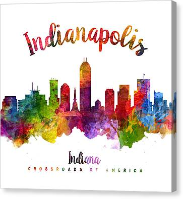 Indianapolis Indiana 23 Canvas Print by Aged Pixel