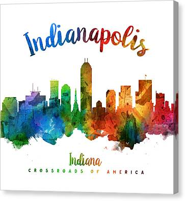 Indianapolis Indiana 25 Canvas Print by Aged Pixel