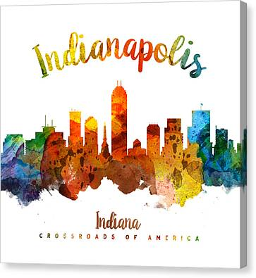 Indianapolis Indiana 26 Canvas Print by Aged Pixel