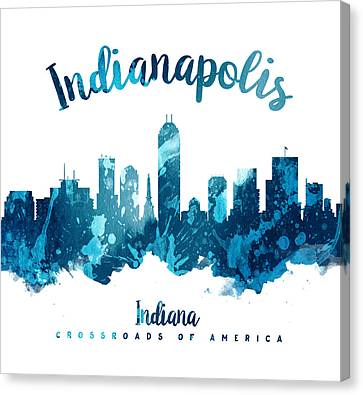 Indianapolis Indiana 27 Canvas Print by Aged Pixel
