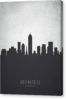 Indianapolis Indiana Cityscape 19 Canvas Print by Aged Pixel
