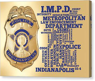 Indianapolis Metropolitan Police Department Gold Canvas Print by Dave Lee