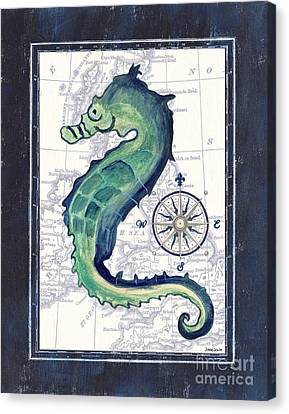 Indigo Maritime 2 Canvas Print by Debbie DeWitt